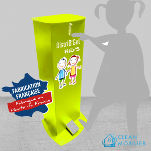 CLEAN-MOBILIER-Distributeur-a-pied-sans-contact-DitriBgel-Kids